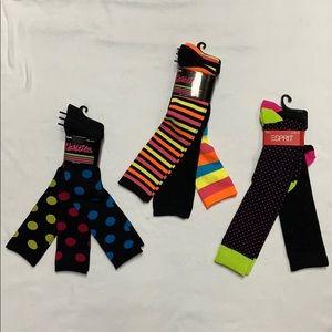 8 Pair Knee High Polka Dot & Striped Socks